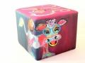 Vierkante poef - Kunst op Meubels - Neplenbroek Meubelstoffering